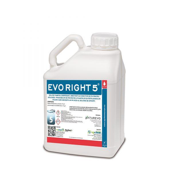 EVO RIGHT 5 conține un tampon organic